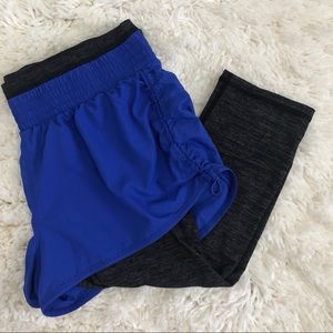 Athleta Blue Go Getter 2 in 1 Running Shorts